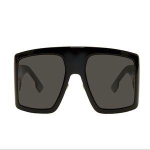 Black Oversized DiorSoLight1 Sunglasses